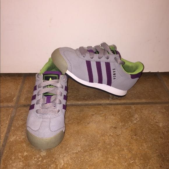 le adidas samoa gray viola ragazze taglia 11 poshmark